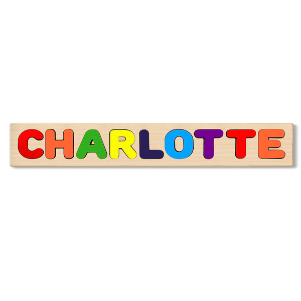 Wooden Name Puzzle Personalized Puzzle Choose Up to 12 Letters. Alligatorvector Theme