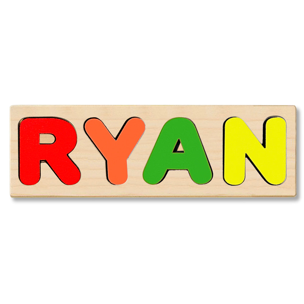 Wooden Personalized Name Puzzle - Any Name Or First & Last Name Choose up to 12 Letters No Extra Cost - RYAN