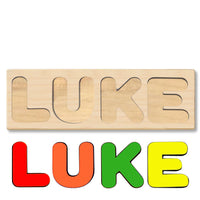 Wooden Name Puzzle Personalized Puzzle Choose Up to 12 Letters. Cartoon Dog Theme