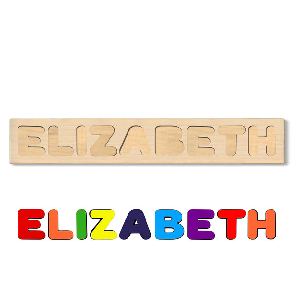 Wooden Personalized Name Puzzle - Any Name Or First & Last Name Choose up to 12 Letters No Extra Cost - ELIZABETH
