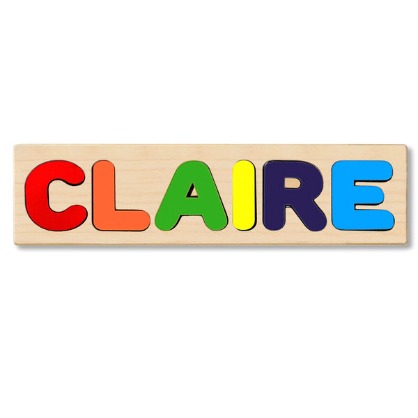 Wooden Personalized Name Puzzle - Any Name Or First & Last Name Choose up to 12 Letters No Extra Cost - CLAIRE