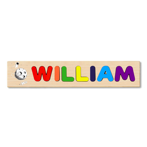 Wooden Name Puzzle Personalized Puzzle Choose Up to 12 Letters. Astronutaroundmoon Theme