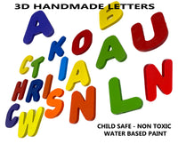 Wooden Name Puzzle Personalized Puzzle Choose Up to 12 Letters. Rainbow With Balloon Ride Theme
