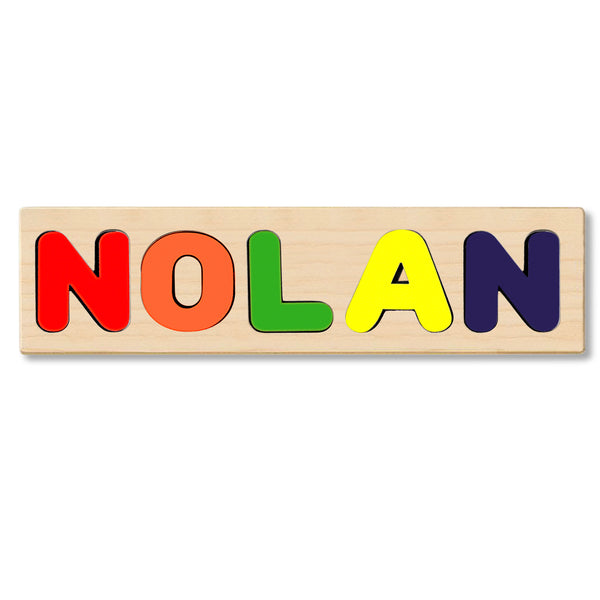 Wooden Personalized Name Puzzle - Any Name Or First & Last Name Choose up to 12 Letters No Extra Cost - NOLAN