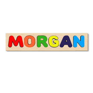 Wooden Personalized Name Puzzle - Any Name Or First & Last Name Choose up to 12 Letters No Extra Cost - MORGAN