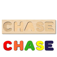 Wooden Personalized Name Puzzle - Any Name Or First & Last Name Choose up to 12 Letters No Extra Cost - CHASE