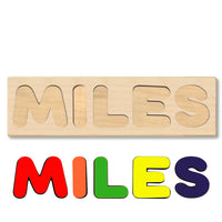 Wooden Personalized Name Puzzle - Any Name Or First & Last Name Choose up to 12 Letters No Extra Cost - MILES