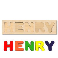 Wooden Name Puzzle Personalized Puzzle Choose Up to 12 Letters. Astronutoncrescent Theme