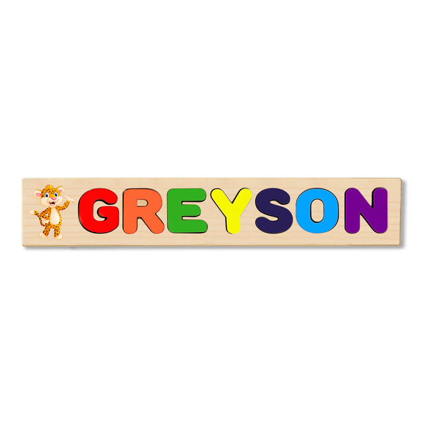 Wooden Name Puzzle Personalized Puzzle Choose Up to 12 Letters. Penther Baby Theme