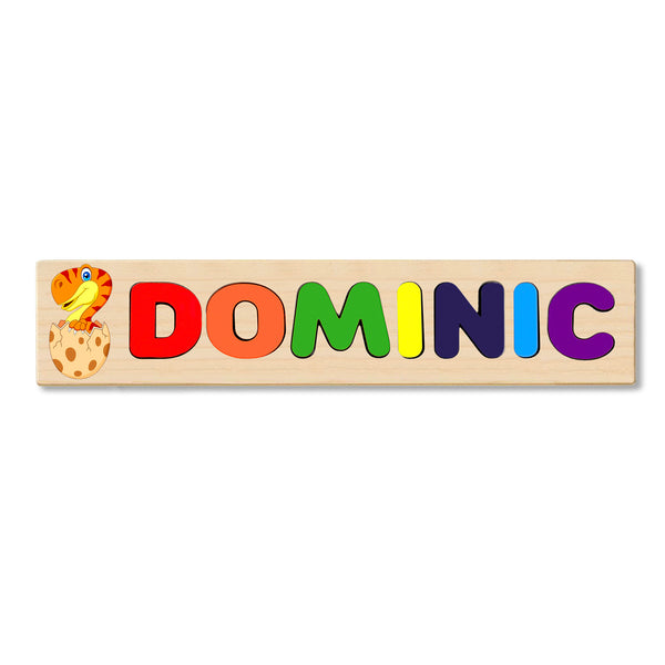 Wooden Name Puzzle Personalized Puzzle Choose Up to 12 Letters. Cute Snake With Egg Theme