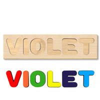 Wooden Name Puzzle Personalized Puzzle Choose Up to 12 Letters. Work Zone Truck Theme