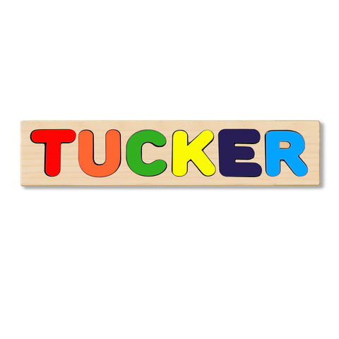 Wooden Personalized Name Puzzle - Any Name Or First & Last Name Choose up to 12 Letters No Extra Cost - TUCKER
