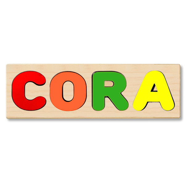 Wooden Personalized Name Puzzle - Any Name Or First & Last Name Choose up to 12 Letters No Extra Cost - CORA