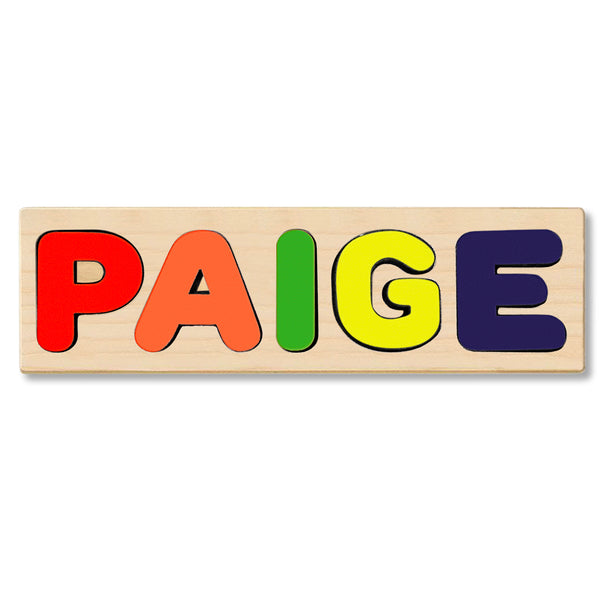 Wooden Name Puzzle Personalized Puzzle Choose Up to 12 Letters. Work Zone Boy Theme