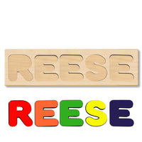 Wooden Personalized Name Puzzle - Any Name Or First & Last Name Choose up to 12 Letters No Extra Cost - REESE