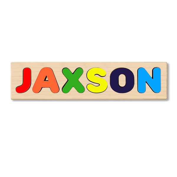 Wooden Personalized Name Puzzle - Any Name Or First & Last Name Choose up to 12 Letters No Extra Cost - JAXSON