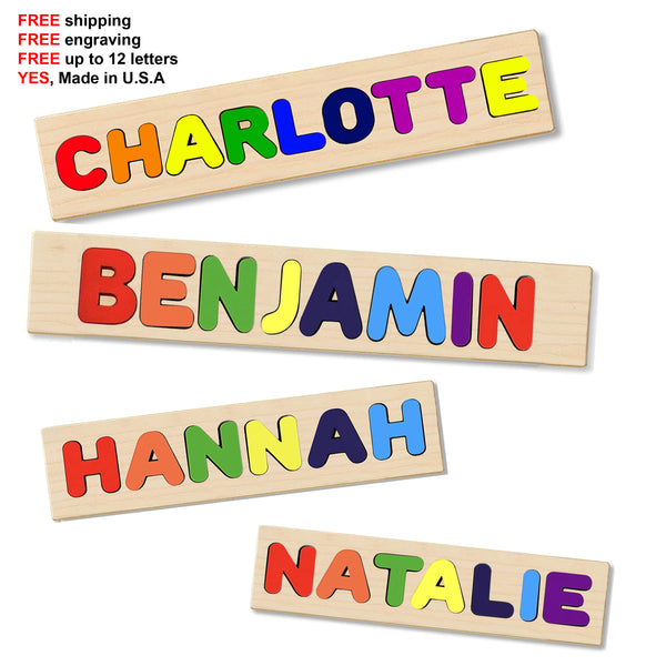 Personalized Name Puzzle For Toddlers Kids Babies ages for 1 2 3 4 5 years old