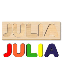 Wooden Name Puzzle Personalized Puzzle Choose Up to 12 Letters. Animal In Farm House Theme