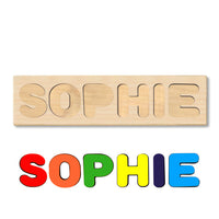 Wooden Name Puzzle Personalized Puzzle Choose Up to 12 Letters. Flying Dinosaur Theme