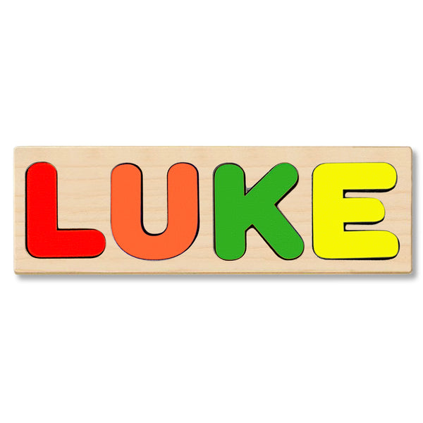 Wooden Personalized Name Puzzle - Any Name Or First & Last Name Choose up to 12 Letters No Extra Cost - LUKE