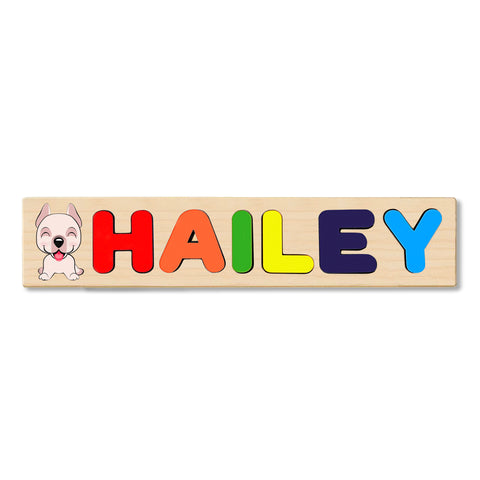 Wooden Name Puzzle Personalized Puzzle Choose Up to 12 Letters. Animal On Train Birthday Theme