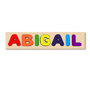 Wooden Personalized Name Puzzle - Any Name Or First & Last Name Choose up to 12 Letters No Extra Cost - ABIGAIL