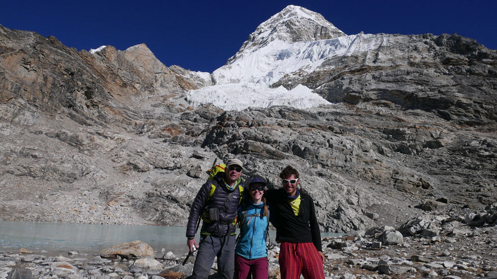 Paul, Erin, and Benj on the  last day at base camp.