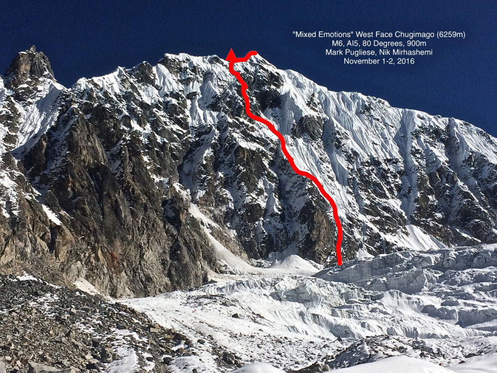 """Rolwaling Valley new route """"Mixed Emotions"""""""