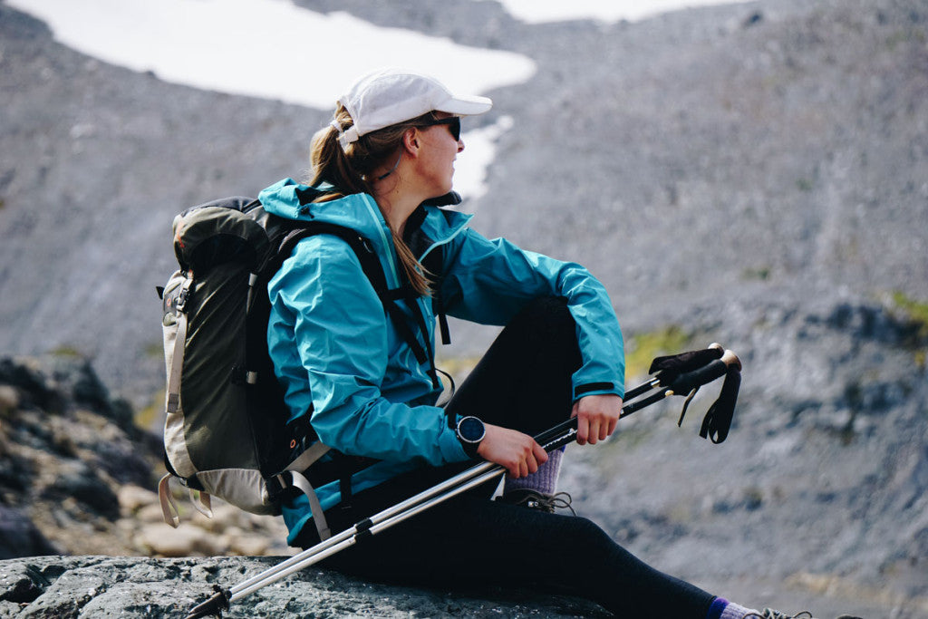 Alpha SL Jacket on Wonderland Trail day hike. Picture by Grace Giordano.