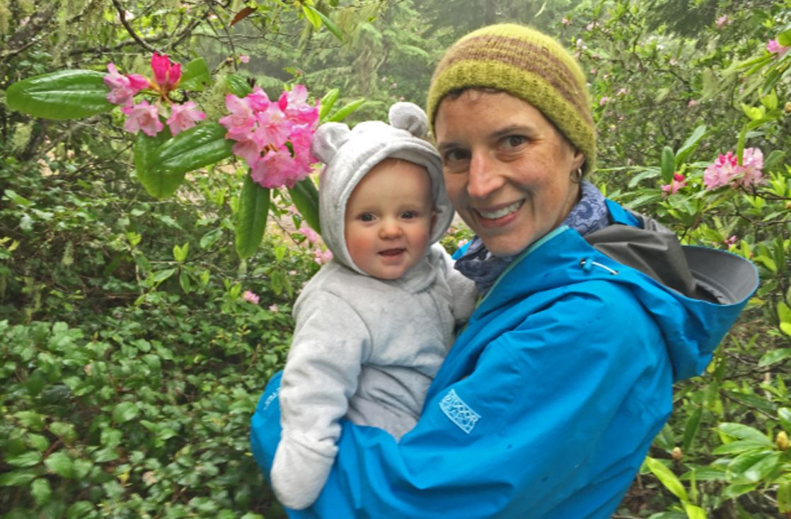 Krista Dooley with AJ on Mount Walker. Photo Courtesy of Krista