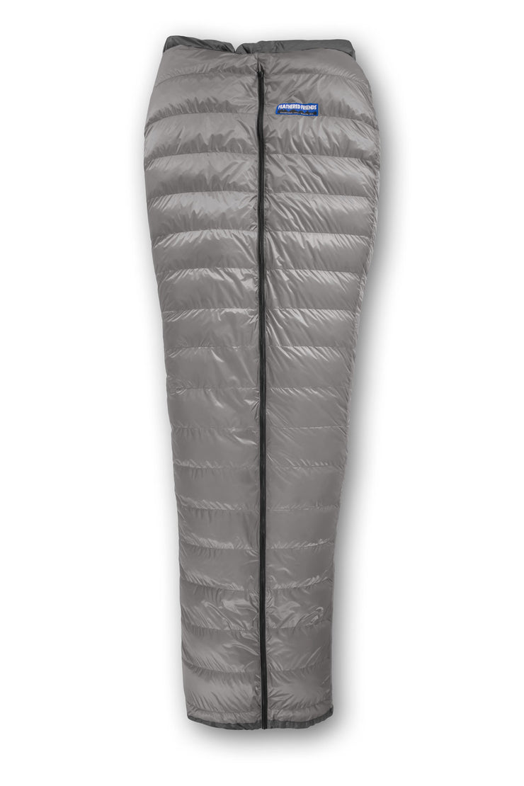Feathered Friends Flicker UL Down Quilt Sleeping Bag Titanium Gray