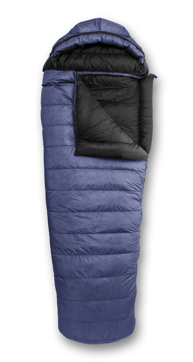 Feathered Friends Penguin YF Sleeping Bag Marine Blue with optional hood