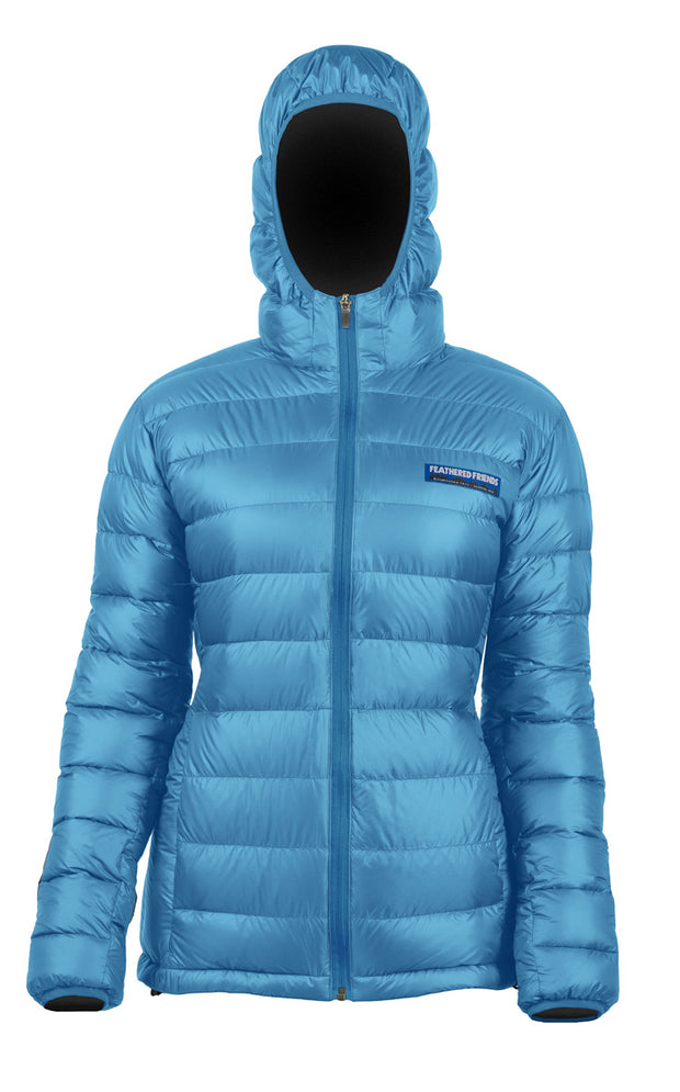 Feathered Friends Women's Eos Down Jacket Blue Sky