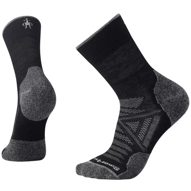 PhD Outdoor Light Mid Crew Hiking Socks Men's Black