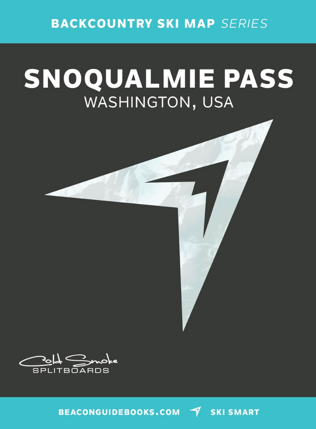 Snoqualmie Pass Topographic Ski Map