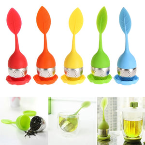 6 Colors Silicone Tea Strainer Sweet Leaf