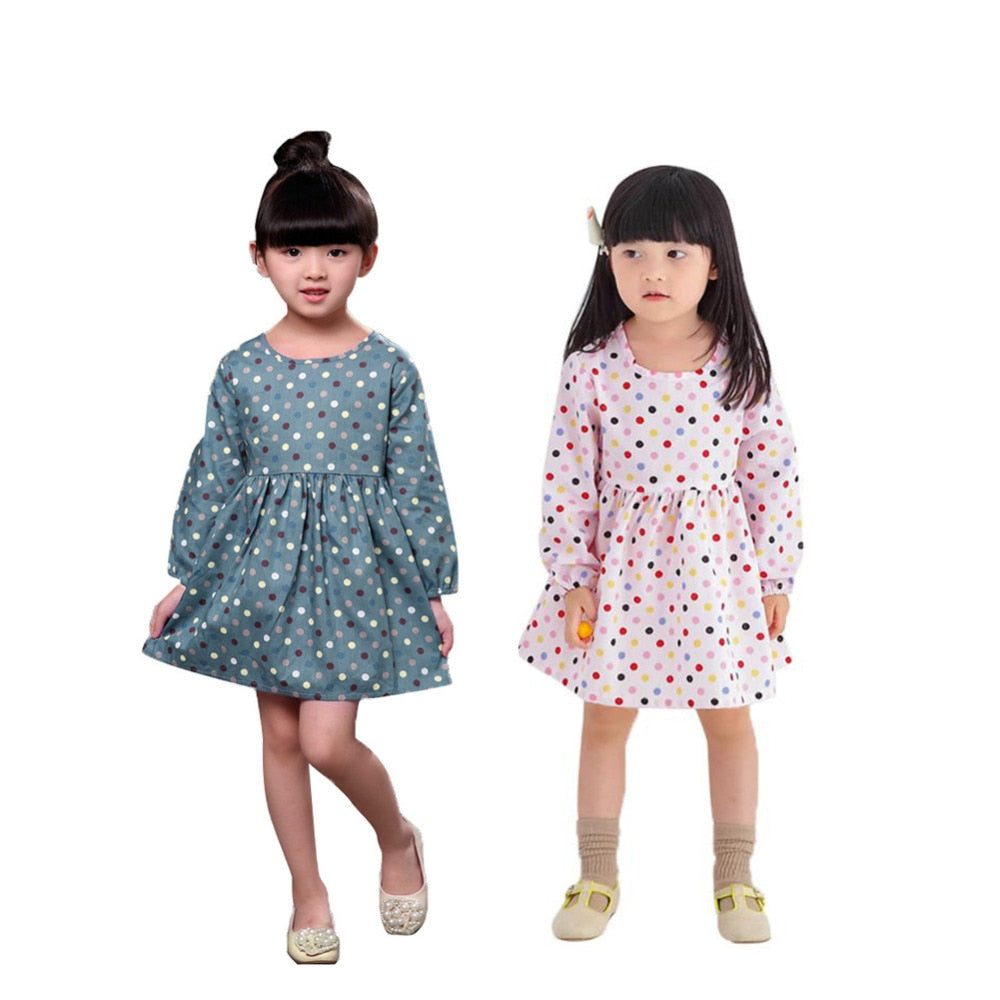 Children's Dresses for Girls Polka Dot