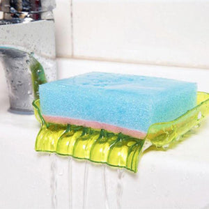 1PC Sucker Soap Holder Sponge Cloth Drying