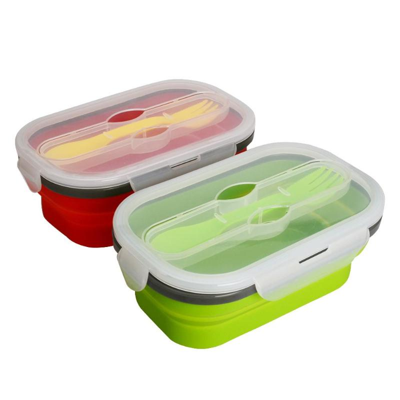 950mL Portable Silicone Lunch Box Leak-proof