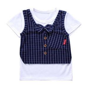 Baby Kids Clothes Set Pullover Short Sleeve