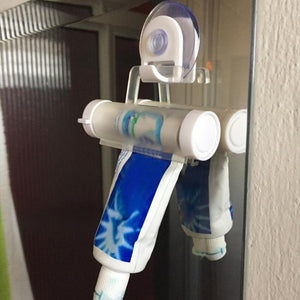 Plastic Toothpaste Dispenser Sucker Holder