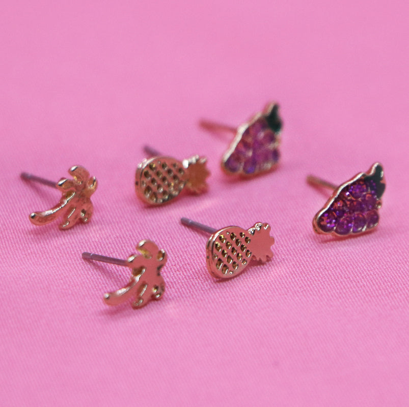 SET DE ARETES DE FIGURA TROPICAL