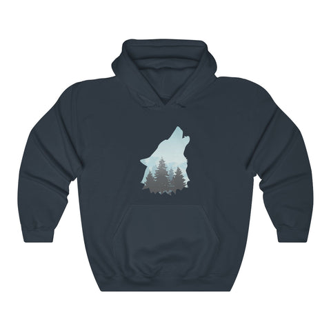 Image of Howling Wolf Hoodie Unisex