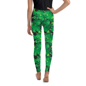 Youth Here a Clover, There a Clover Leggings