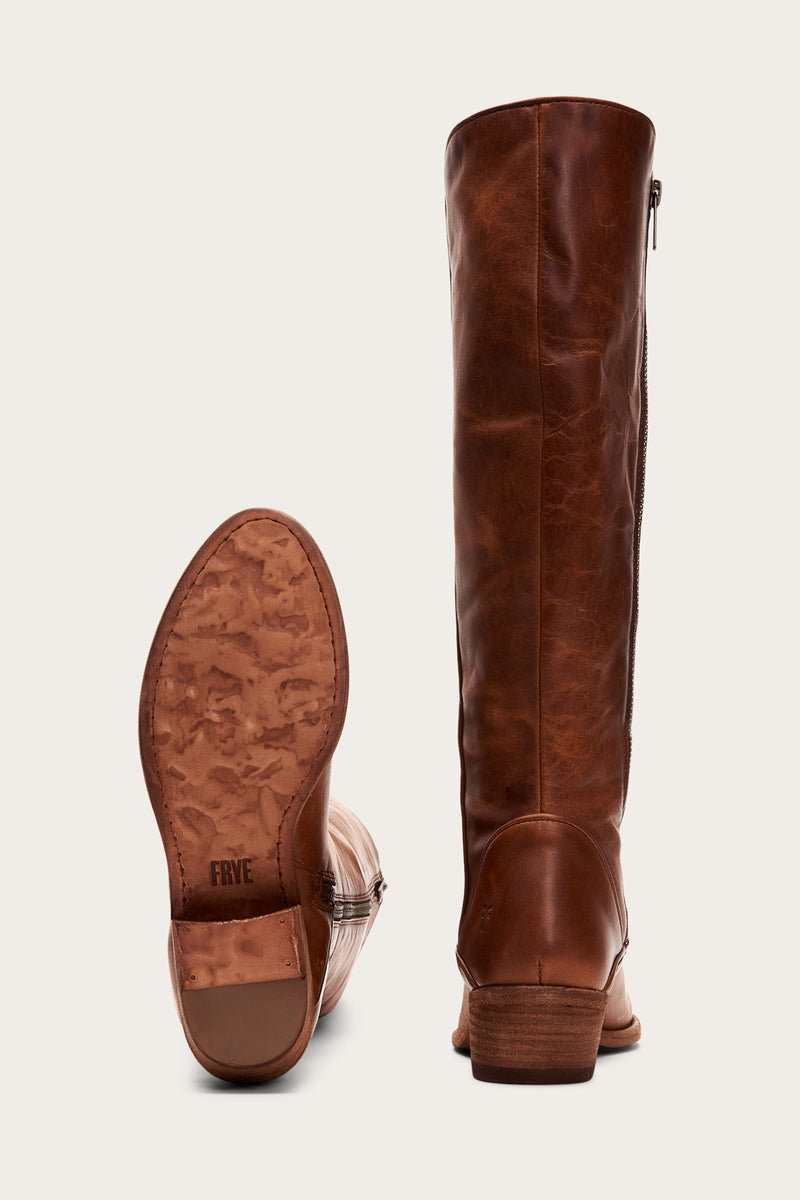 Carson Piping Tall Wide Calf   FRYE