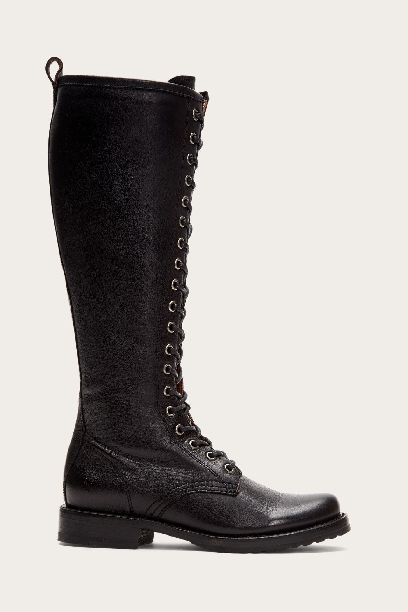 History of Victorian Boots & Shoes for Women Veronica Combat Tall $398.00 AT vintagedancer.com