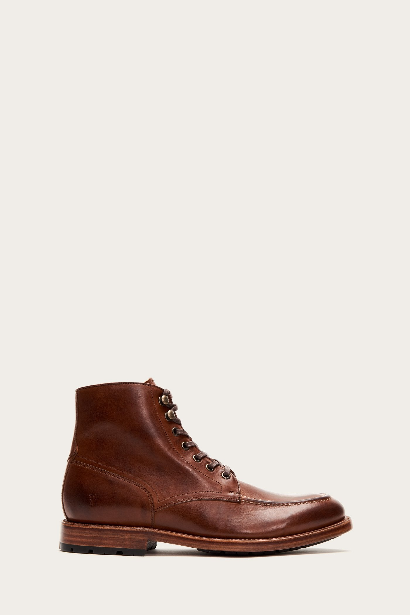 1920s Style Mens Shoes | Peaky Blinders Boots Bowery Moc Lace Up $358.00 AT vintagedancer.com