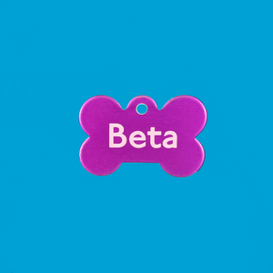 """Beta"" Metal Bone Tag"