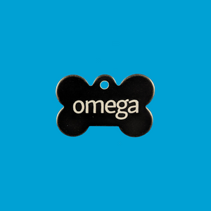 """Omega"" Metal Bone Tag"