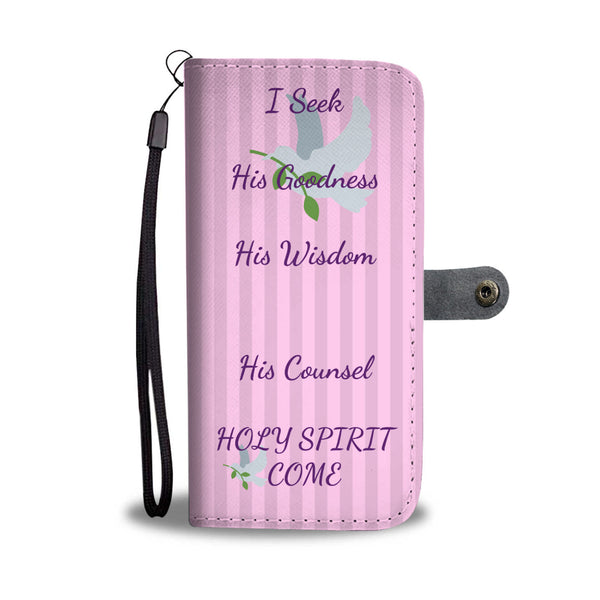 I Seek His Goodness - Phone Wallet Case (Free Shipping)